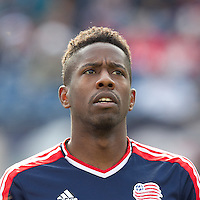 New England Revolution midfielder Clyde Simms (19). In a Major League Soccer (MLS) match, the New England Revolution defeated Portland Timbers, 1-0, at Gillette Stadium on March 24, 2012
