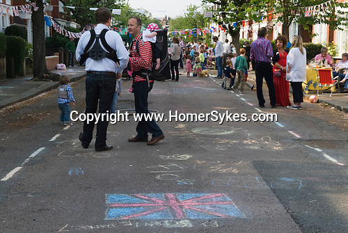 Prince William Kate Middleton Princess Catherine Royal Wedding Street Party. Barnes London UK. 29 April 2011