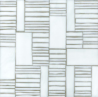 Kente, a hand cut glass mosaic  shown in Moonstone, is part of the Erin Adams Collection for New Ravenna Mosaics.<br />