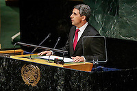 New York City, NY. 25 September 2014. The Bulgarian President Rosen Plevneliev  attends the 69th United Nations General Assembly at United Nations Headquarters.  Photo by Kena Betancur/VIEWpress