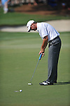 Harrison Frazar putts on the 16th hole at the PGA FedEx St. Jude Classic at TPC Southwind in Memphis, Tenn. on Sunday, June 12, 2011. Harrison Frazar won the tournament on the third playoff hole against Robert Karlsson. The victory was Frazar's first ever on the PGA tour.