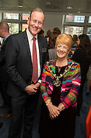 Pictured is Potter Clarkson's Practice Director Andrew Argyle with Counc. Jackie Morris, Sheriff of Notttingham