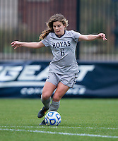 Daphne Corboz (6) of Georgetown brings the ball up the field during the first round of the NCAA tournament at Shaw Field in Washington, DC.  Georgetown defeated La Salle, 2-0.