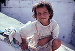 Child living in a Palestinian refugee camp in Lebanon in 1981.