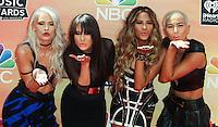 LOS ANGELES, CA, USA - MAY 01: Lauren Bennett, Natasha Slayton, Emmalyn Estrada, Paula Van Oppen, G.R.L., GRL at the iHeartRadio Music Awards 2014 held at The Shrine Auditorium on May 1, 2014 in Los Angeles, California, United States. (Photo by Celebrity Monitor)