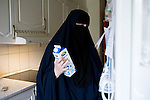 Arhus, Denmark, April , 2010. Aisha, 42, danish, converted to Islam 22 years ago.