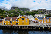 Norway, Lofoten. Nusfjord is an idyllic, small harbor with traditional rorbu.