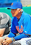 10 March 2012: New York Mets Manager Terry Collins watches his team take batting practice prior to a Spring Training game against the Washington Nationals at Space Coast Stadium in Viera, Florida. The Nationals defeated the Mets 8-2 in Grapefruit League play. Mandatory Credit: Ed Wolfstein Photo