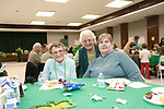 Waterbury, CT- 09 March 2017-030917CM06- SOCIAL MOMENTS From left, cancer survivors, Jean DeBisschop of Naugatuck, Vera Giattino of Wolcott and Joanne Halstead Oxford are photographed during a Survivor Social event for Relay for Life at Holy Cross High School in Waterbury on Thursday.   Christopher Massa Republican-American