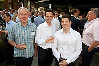 Summer drinks for Simon Birmingham of Deloitte, Simon White of PWC and Rob Luff from Deloitte