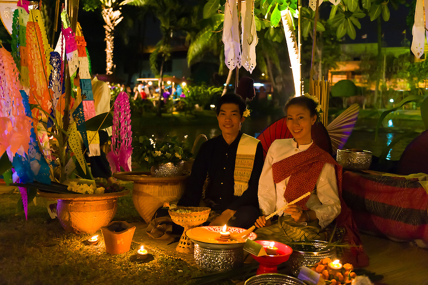Thai people, Ladawan Palace, Bangkok, Thailand