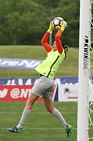Piscataway, NJ - Saturday May 20, 2017: Lydia Williams prior to a regular season National Women's Soccer League (NWSL) match between Sky Blue FC and the Houston Dash at Yurcak Field.  Sky Blue defeated Houston, 2-1.