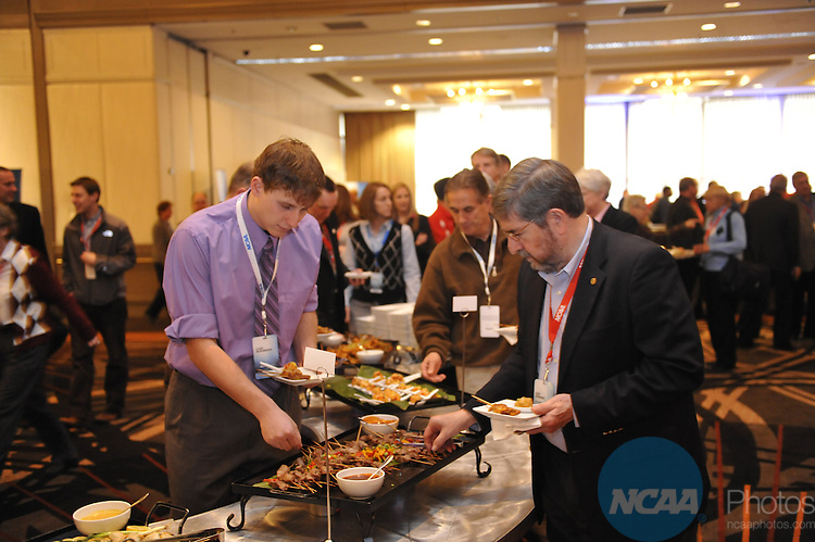 14 JAN 2010: The Delegates Reception at the 2010 NCAA Convention held at the Marriott Marquis and the Hyatt Regency in Atlanta, GA. Stephen Nowland/NCAA Photos.Pictured:.