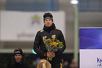 SCHAATSEN: ENSCHEDE: 30-10-2015, IJsbaan Twente, KNSB Cup Enschede, Douwe de Vries, ©foto Martin de Jong