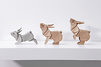Surface to Structure origami exhibition at Cooper Union, New York. Gallery view. Rabbits in Motion deigned by Ronald Koh and folded by Ng Boon Choon 2012.