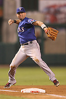 08/16/11 Anaheim, CA: Texas Rangers designated hitter Michael Young #10 during an MLB game played between the Texas Rangers and the Los Angeles Angels at Angel Stadium. The Rangers defeated the Angels 7-3.