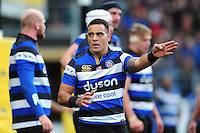 Kahn Fotuali'i of Bath Rugby. Aviva Premiership match, between Bath Rugby and Saracens on December 3, 2016 at the Recreation Ground in Bath, England. Photo by: Patrick Khachfe / Onside Images