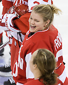 Alissa Fromkin (BU - 30) - The Boston College Eagles defeated the Boston University Terriers 2-1 in the opening round of the Beanpot on Tuesday, February 8, 2011, at Conte Forum in Chestnut Hill, Massachusetts.