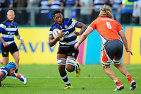 Levi Douglas of Bath Rugby in possession. Aviva Premiership match, between Bath Rugby and Newcastle Falcons on September 10, 2016 at the Recreation Ground in Bath, England. Photo by: Patrick Khachfe / Onside Images