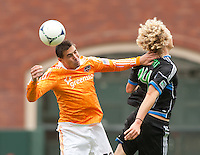 San Francisco, California - Saturday March 17, 2012: Cam Weaver in action during the MLS match at AT&T Park. Houston Dynamo defeated San Jose Earthquakes  1-0