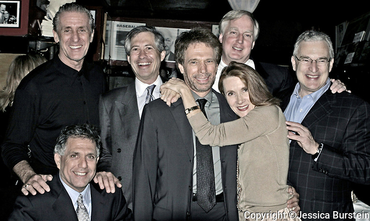 With Pat Riley, Les Moonves, Trump, Yahoo guy, Bruckheimer's wife and ?