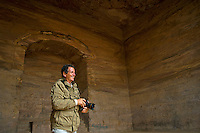 "Blaine Harrington inside ""The Monastery"", Petra, Jordan"