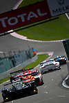 "LeMans Series Races confront LMP1, LMP2 and GT cars during endurance races, here in the descent to "" the raidillon "" corner, Sunday, May 10, 2009, in Spa-Francorchamps, Belgium. (Valentin Bianchi/pressphotointl.com)"