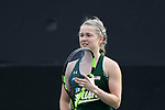 WINSTON-SALEM, NC - MARCH 17: Notre Dame's Monica Robinson. The Wake Forest University Demon Deacons hosted the University of Notre Dame Fighting Irish on March 17, 2017, at Wake Forest Tennis Center in Winston-Salem, NC in a Division I College Women's Tennis match. Notre Dame won the match 4-1.