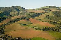 aerial photograph vineyards Mayacamas Mountains Sonoma Valley Sonoma County, California