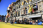 Andre Greipel (GER) Lotto-Soudal team on stage at sign on before the 101st edition of the Tour of Flanders 2017 running 261km from Antwerp to Oudenaarde, Flanders, Belgium. 26th March 2017.<br /> Picture: Eoin Clarke | Cyclefile<br /> <br /> <br /> All photos usage must carry mandatory copyright credit (&copy; Cyclefile | Eoin Clarke)