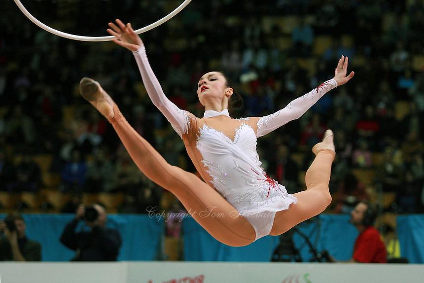 """Anna Bessonova of Ukraine wins seniors All-Around at 2007 World Cup Kiev, """"Deriugina Cup"""" in Kiev, Ukraine on March 18, 2007."""