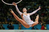 "Anna Bessonova of Ukraine wins seniors All-Around at 2007 World Cup Kiev, ""Deriugina Cup"" in Kiev, Ukraine on March 18, 2007."