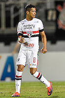 Orlando, FL - Saturday Jan. 21, 2017: São Paulo midfielder Cícero (8) celebrates his successful penalty shot during the penalty shootout of the Florida Cup Championship match between São Paulo and Corinthians at Bright House Networks Stadium. The game ended 0-0 in regulation with São Paulo defeating Corinthians 4-3 on penalty kicks.