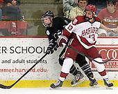 Matt Maher (Bentley - 2), Tommy O'Regan (Harvard - 13) - The Harvard University Crimson defeated the visiting Bentley University Falcons 5-0 on Saturday, October 27, 2012, at Bright Hockey Center in Boston, Massachusetts.