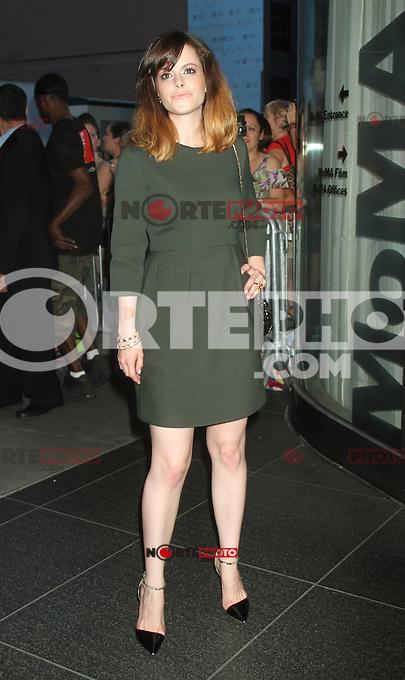 NEW YORK, NY - August 13, 2012: Emily Hampshire  at the New York premiere of Cosmopolis at MoMA in New York City. &copy; RW/MediaPunch Inc. /NortePhoto.com<br /> <br /> **SOLO*VENTA*EN*MEXICO**<br />  **CREDITO*OBLIGATORIO** *No*Venta*A*Terceros*<br /> *No*Sale*So*third* ***No*Se*Permite*Hacer Archivo***No*Sale*So*third*