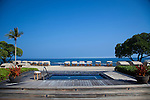 The Four Seasons Resort Hualalai at Historic Kaupulehu on the Big Island of Hawaii. The ocean view hot tub at the Beach Tree Pool.