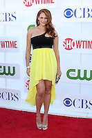 LOS ANGELES - JUL 29:  Amanda Righetti arrives at the CBS, CW, and Showtime 2012 Summer TCA party at Beverly Hilton Hotel Adjacent Parking Lot on July 29, 2012 in Beverly Hills, CA