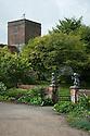 Gates to Wild Garden, Upton Grey, mid July. Village church in the background.