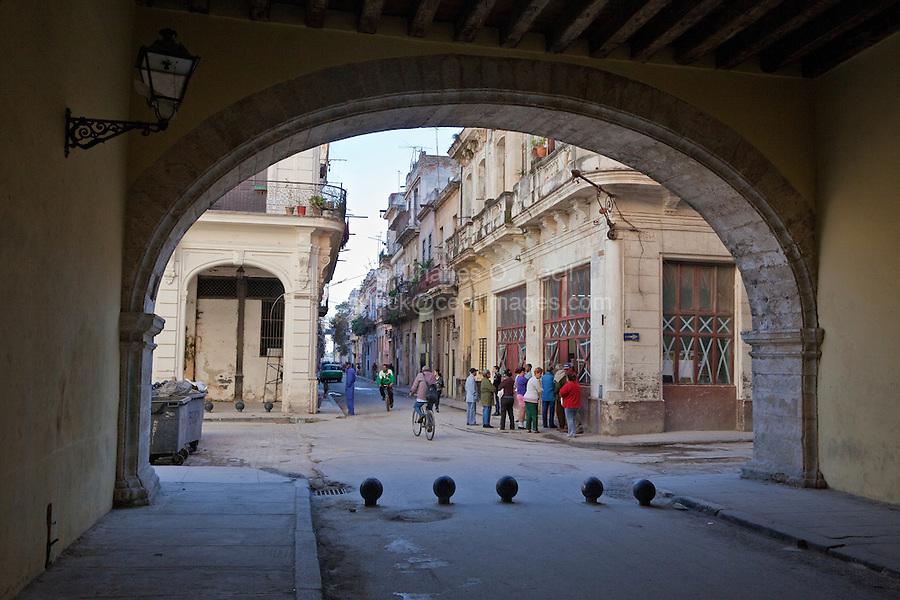 Cuba, Havana.  Arco de Belen (Arch of Belen), corner of Compostela and Acosta Streets.