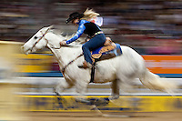 Tammy Fischer, barrel racing. 2009 Wrangler National Finals Rodeo, round 9. Friday, December 11, 2009. The Thomas &amp; Mack Center, Las Vegas, Nevada. Photograph &copy;&nbsp;2009 Darren Carroll