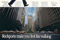 Rockport Shoes make you feel like walking,  Park Avenue New York