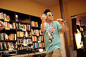 Sacrificial Poets presented a community wide poetry open mic at Flyleaf Books in Chapel Hill, N.C., Wednesday, July 6, 2011. G Yamazawa was the Hip-Hop showcase opener.