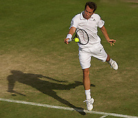 Philipp Kohlschreiber (GER) (27) against Ivo Minar (CZE) in the second round of the gentlemen's singles. Kohlschreiber beat Minar .6-4 3-6 4-6 6-2 8-6 ..Tennis - Wimbledon - Day 3 - Wed  24th June 2009 - All England Lawn Tennis Club  - Wimbledon - London - United Kingdom..Frey Images, Barry House, 20-22 Worple Road, London, SW19 4DH.Tel - +44 20 8947 0100.Cell - +44 7843 383 012
