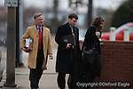 U.S. Attorneys enter federal court for FBI Agent Hal Nielson's arraignment on Monday, February 1, 2010 in Oxford, Miss.