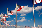 A crescent of flags on the National Mall, Washington, DC, USA
