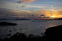 Cruz Bay  Sunset<br /> St. John, U.S Virgin Islands