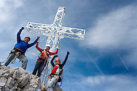 Ramsau am Dachstein, Steiermark, Styria, Austria, September 2008. A via Ferrata, in Austria known as klettersteig, takes us to the summit of Mt Hoher Dachstein. The province of Styria is known for its green alpine landscape, good food and many lakes. Photo by Frits Meyst/Adventure4ever.com