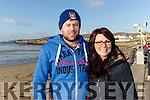Aidan O'Connor Ballymac and Sandra Ryle, Ardfert at Ballyheigue Races on New Years Day.