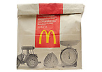 McDonald's Fast Food Meal in Brown Paper Bag