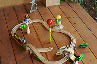a boy's train set